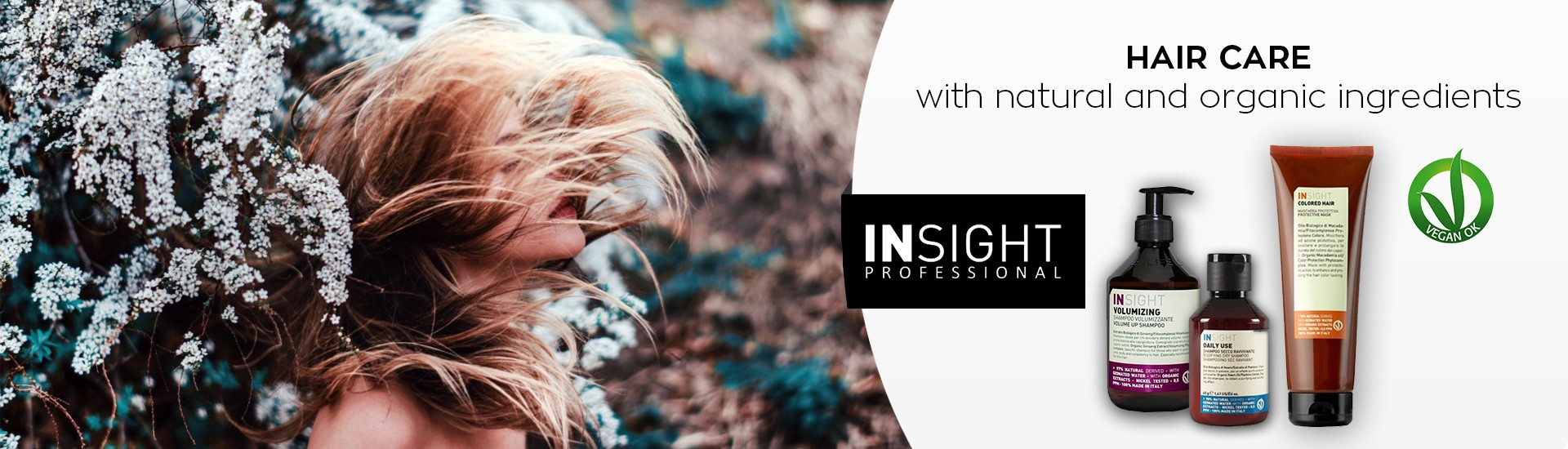 Insight Hair Care with natural and organic ingredients