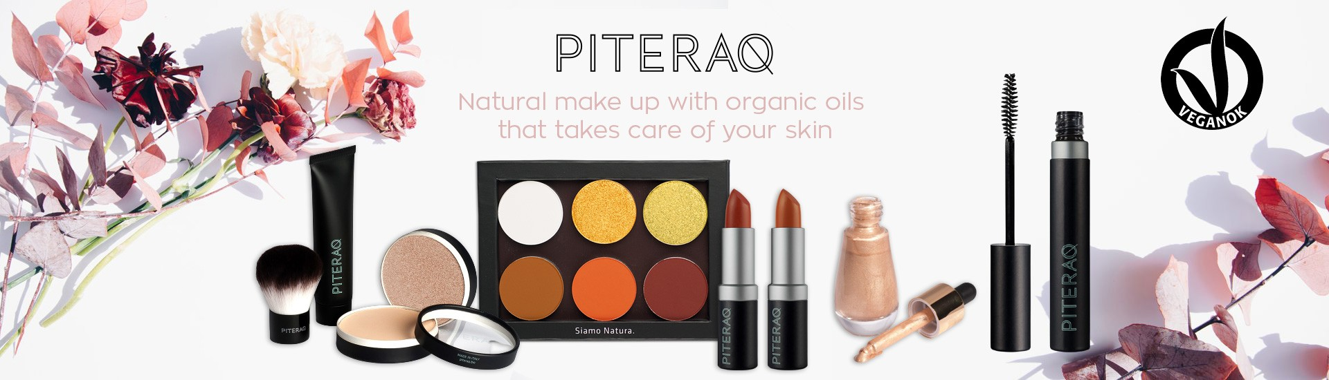 Piteraq Natural make up with organic oils that takes care of your skin